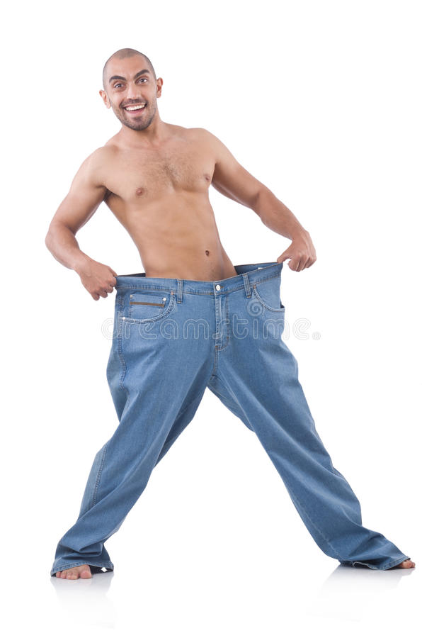 Download Man in dieting concept stock photo. Image of measure - 32813192