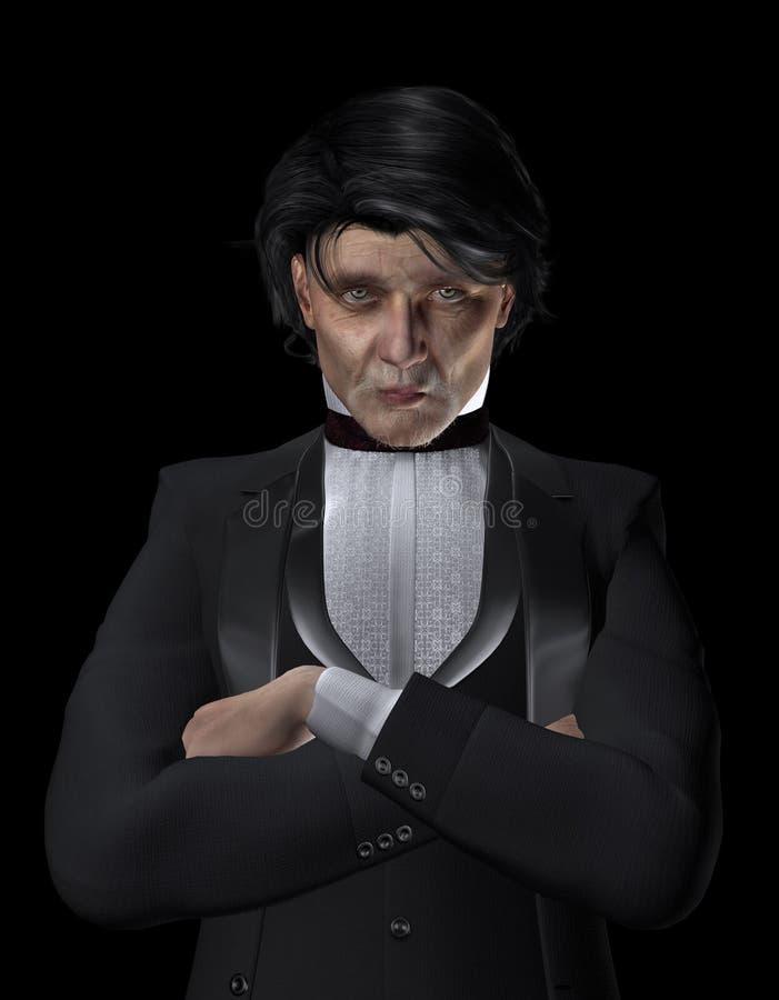 Download Man in dinner jacket stock illustration. Image of attire - 25526365