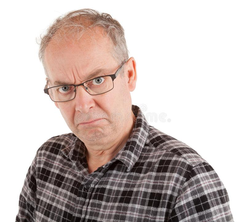 Man is Dissatisfied about Something.  royalty free stock images