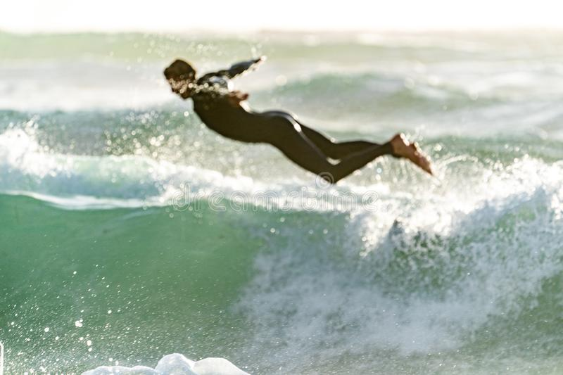 Man Diving Into The Waves Free Public Domain Cc0 Image