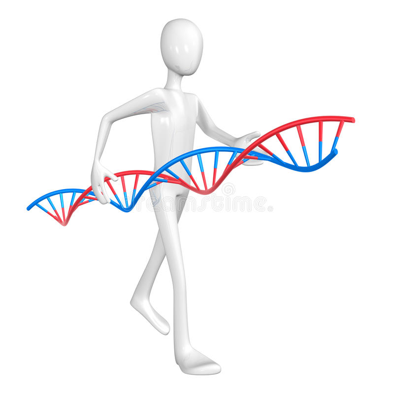 Man and DNA. stock illustration