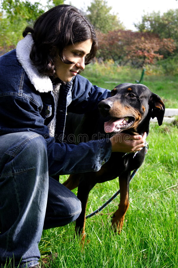 Download Man With Dog Stock Photo - Image: 1451070