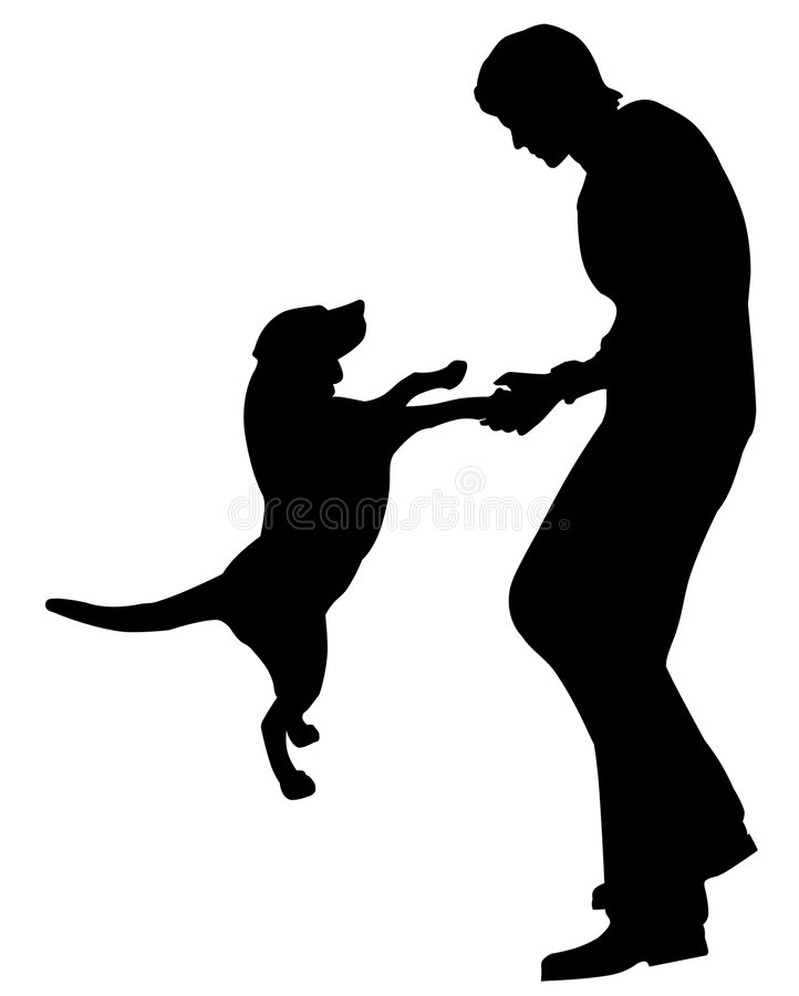 Download Man and dog stock illustration. Image of play, graphics - 807151