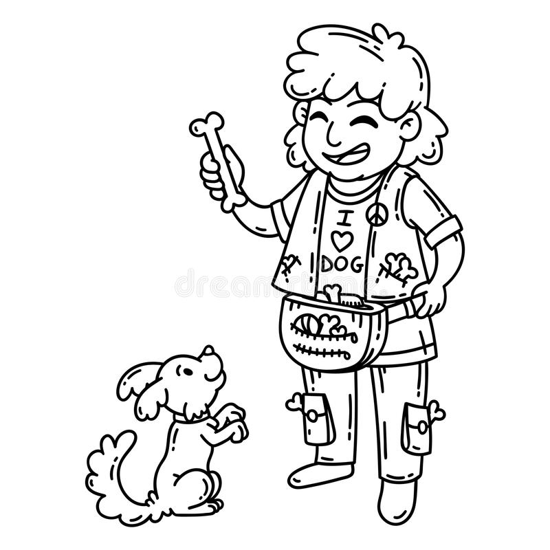 Dog Coloring Pages Stock Illustrations 266 Dog Coloring