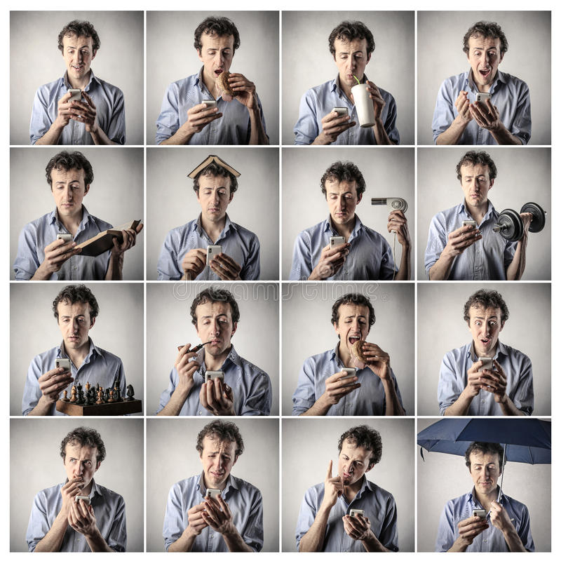 Download Man doing different things stock image. Image of group - 39503049