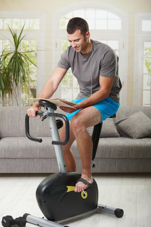 Download Man doing exercise at home stock image. Image of home - 13083117