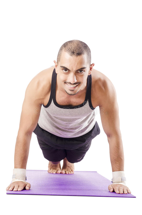 Man Doing Exercises Stock Photography