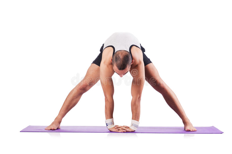 Man Doing Exercises Stock Photos