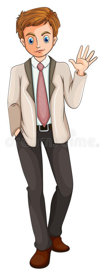 A man doing a hand signal royalty free illustration