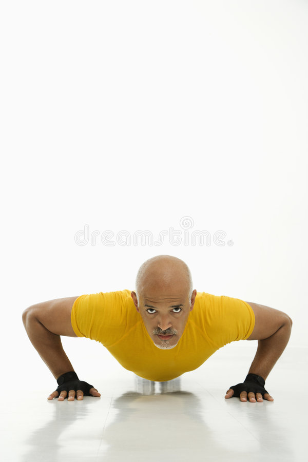 Man Doing Pushups. Royalty Free Stock Images