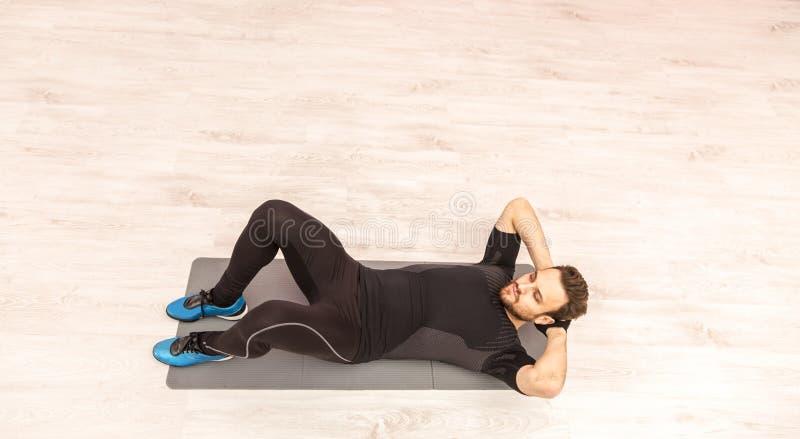 Man Doing Sit-ups stock photo