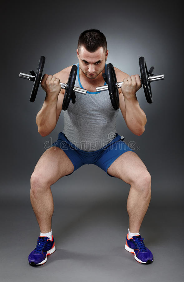 Download Man doing squats stock image. Image of stretch, attractive - 40657247