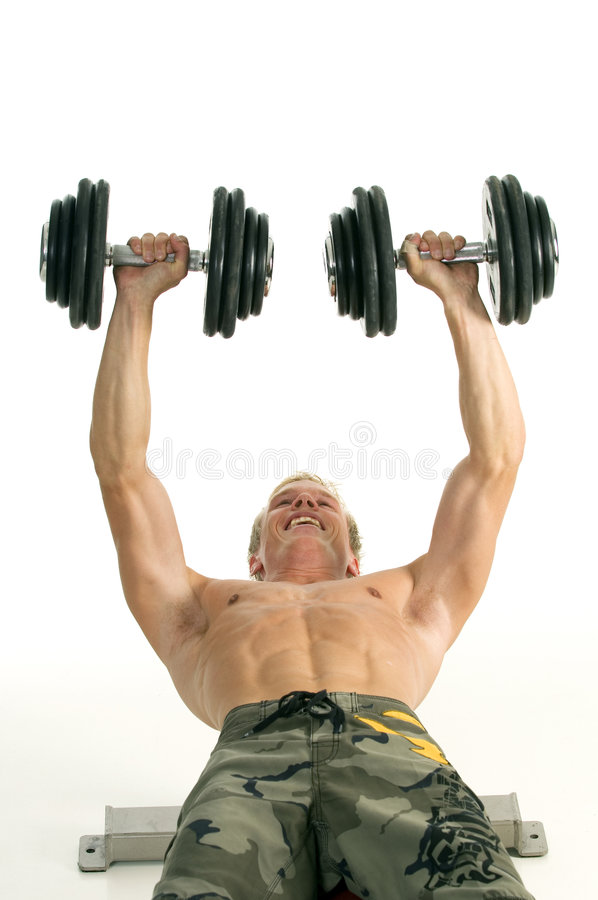 Man Doing Work Out Royalty Free Stock Image