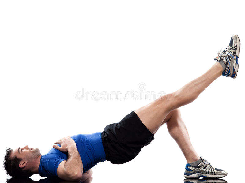Download Man Doing Workout Posture Royalty Free Stock Photo - Image: 21536605