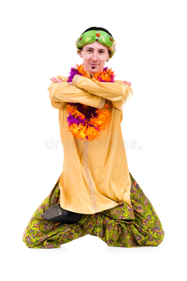 Man Doing Yoga Exercise In Pose Of Lotus Stock Photography