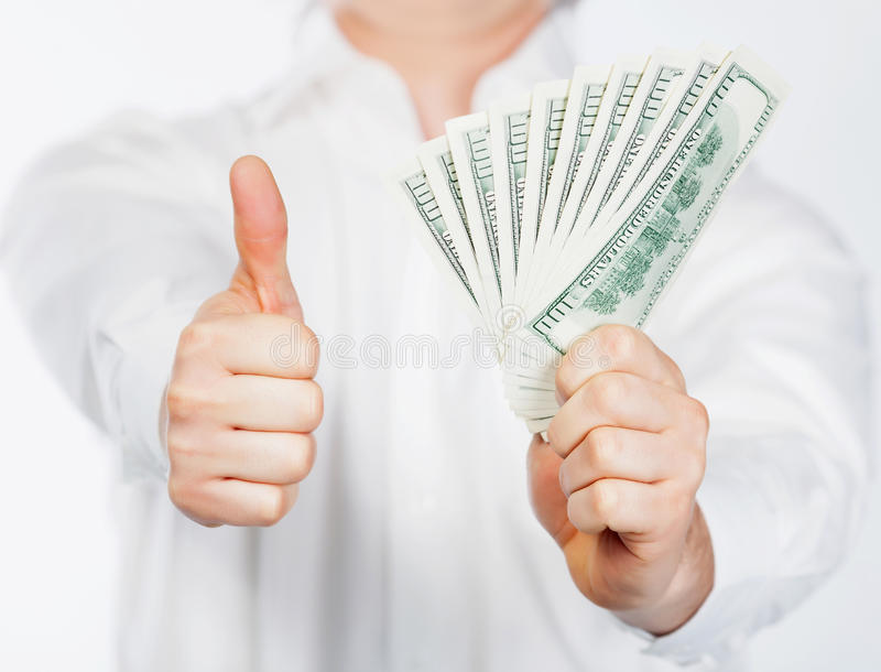 Download Man with dollars stock image. Image of greenback, cash - 24353543