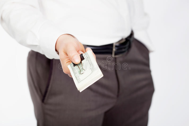 Download Man with dollars stock photo. Image of funds, hand, dollar - 24353710