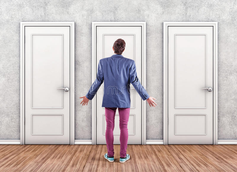 Download Man before a doors stock photo. Image of doors alternative - 35598312 & Man before a doors stock photo. Image of doors alternative - 35598312