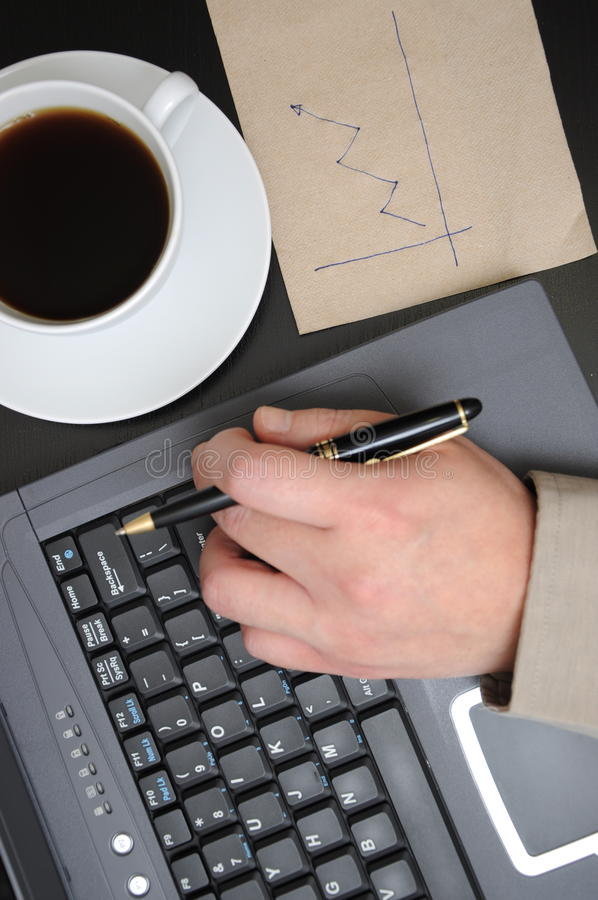 Download Man Drawing Business Finance Graphs Stock Photo - Image: 23277074