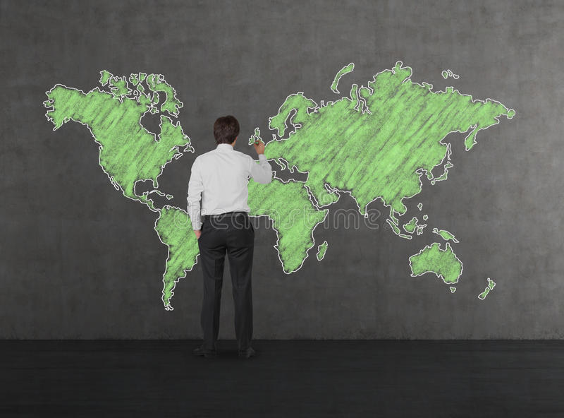 Man drawing green world map stock photo image of concept idea download man drawing green world map stock photo image of concept idea 48260824 gumiabroncs Images