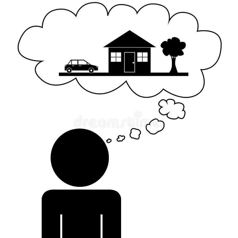 Stock Illustration Man Dream House Illustration Vector Person Dreaming Image41014985