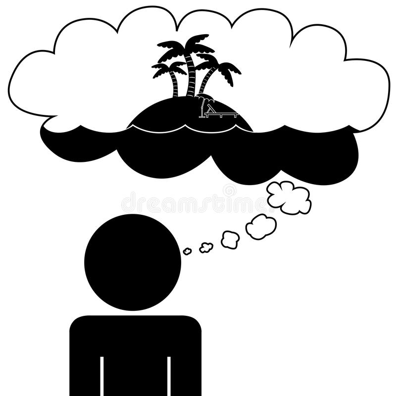 Download Man Dream At Vacation Stock Vector Illustration Of Figure