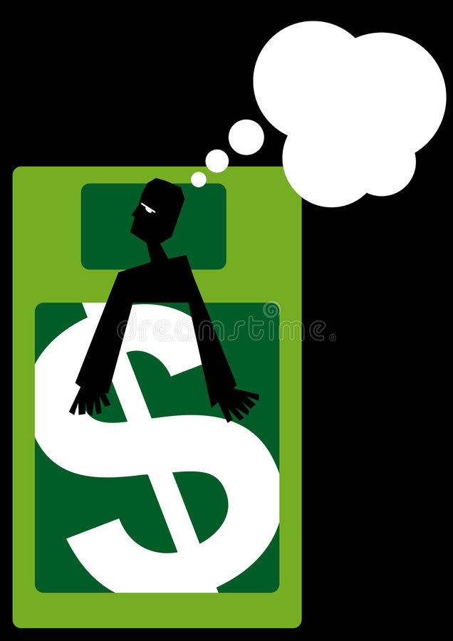 Download Man dreaming about money stock illustration. Image of rich - 6149241