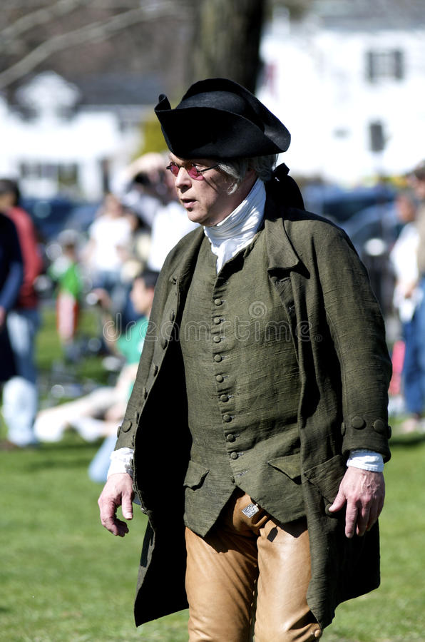 Man Dressed as American Patriot stock photos