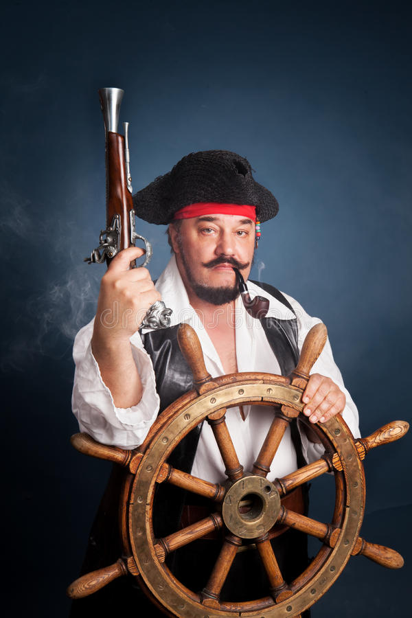 A man dressed as a pirate royalty free stock photos