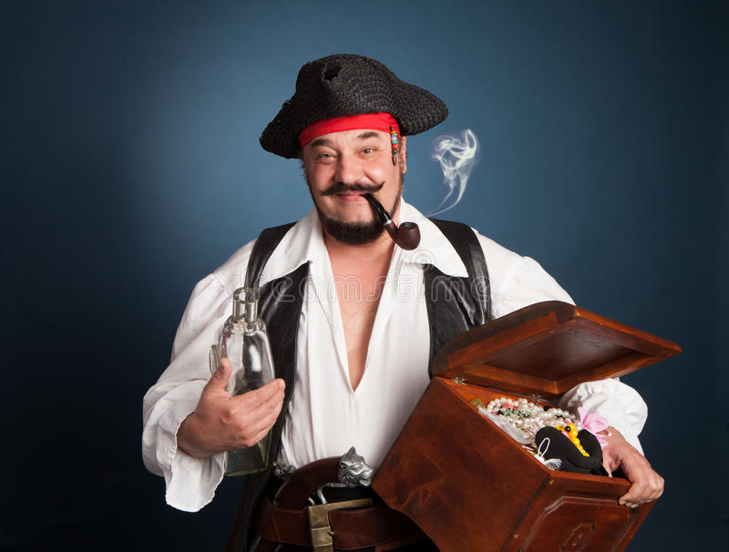 A man dressed as a pirate royalty free stock photography