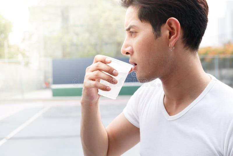 Man drink water royalty free stock image