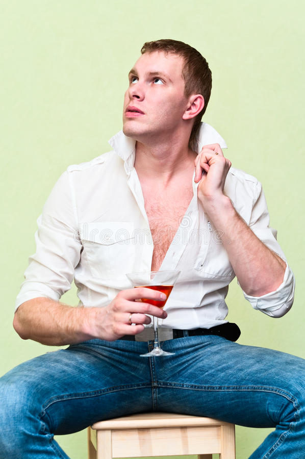 Download Man drinking alcohol stock photo. Image of drinking, concepts - 18354650
