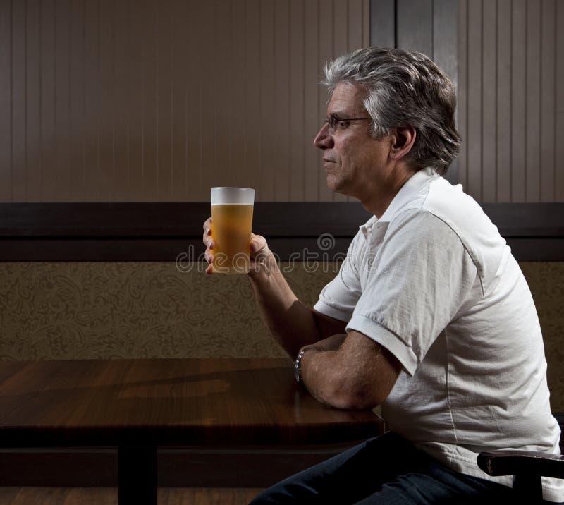 Free Man Drinking Alone Stock Image - 20947301