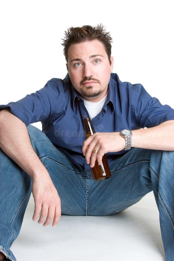 Man Drinking Beer Stock Image