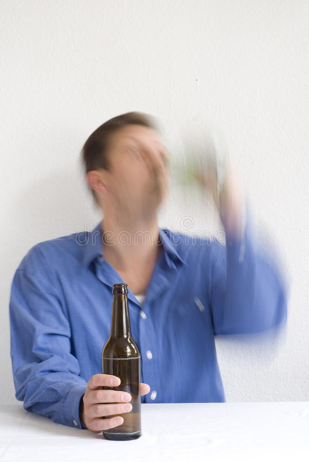 Download Man Drinking With Both Hands Stock Image - Image of troubled, beer: 27035877