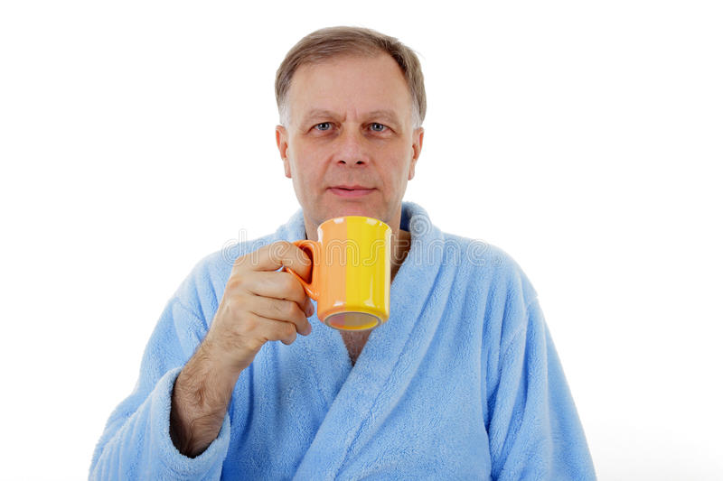 Download Man drinking coffee stock image. Image of drink, portrait - 25477295
