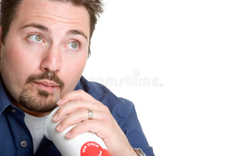 Man Drinking Soda Royalty Free Stock Images