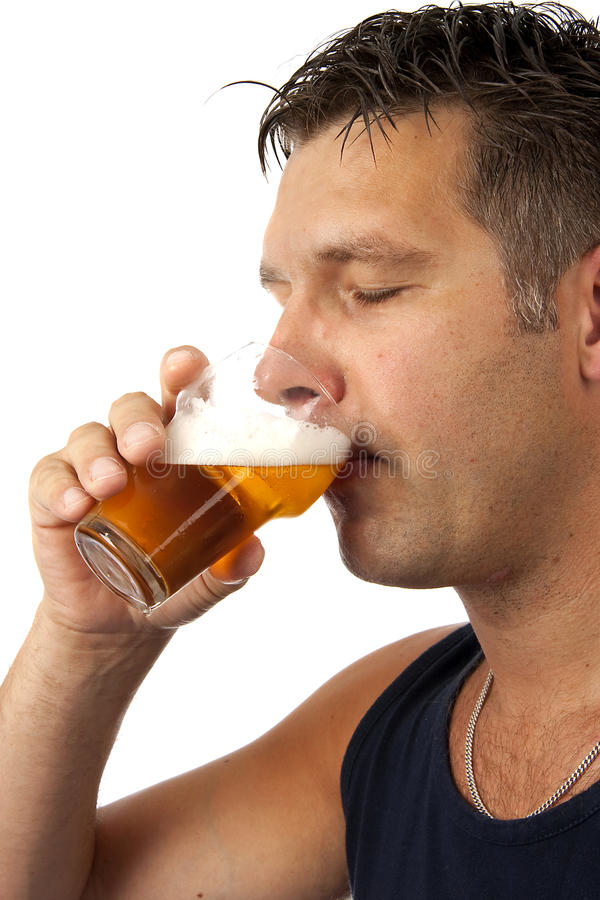 Download Man drinks beer stock image. Image of drinks, posing - 13533173