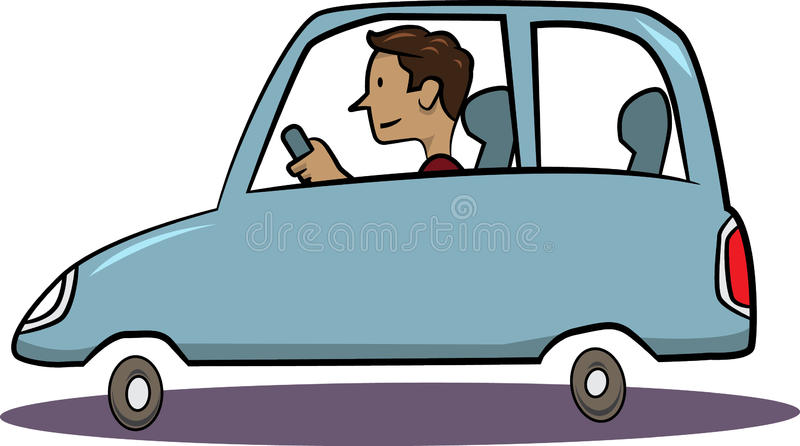 Man driving blue car stock vector. Image of vehicle, steer ...