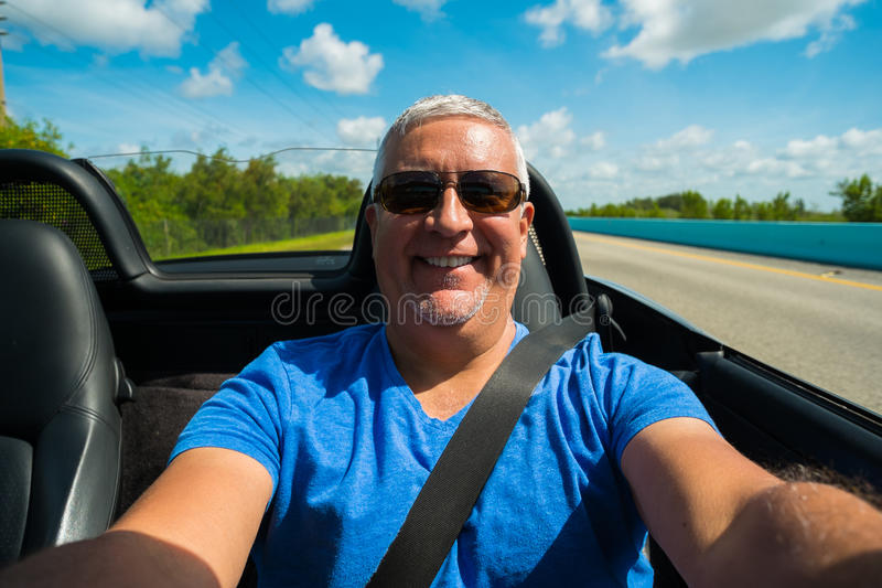 Man driving royalty free stock images