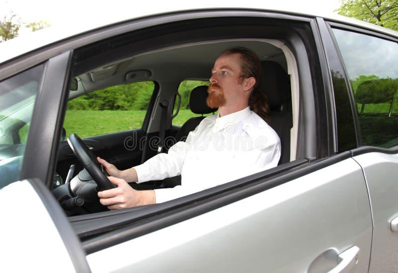 Man driving his car royalty free stock photography
