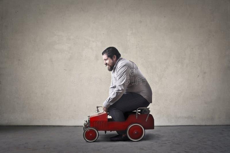 Man driving royalty free stock image