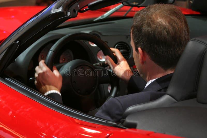 Man Driving Viper Dodge royalty free stock photo