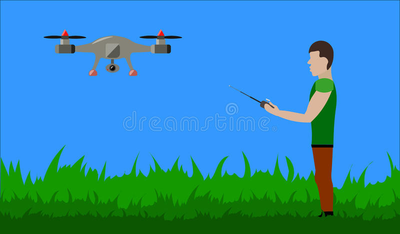 Man with drone royalty free stock photo