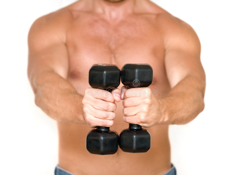 Naked Men With Dumbbells Stock Image Image Of Hand, Caucasian - 9077059-9353