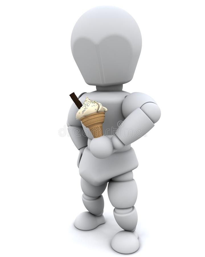 Download Man eating an icecream stock illustration. Image of food - 18292171