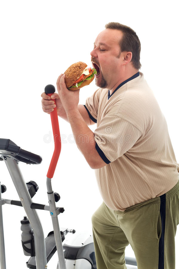 Download Man Eating A Large Hamburger Stock Image - Image: 16800433