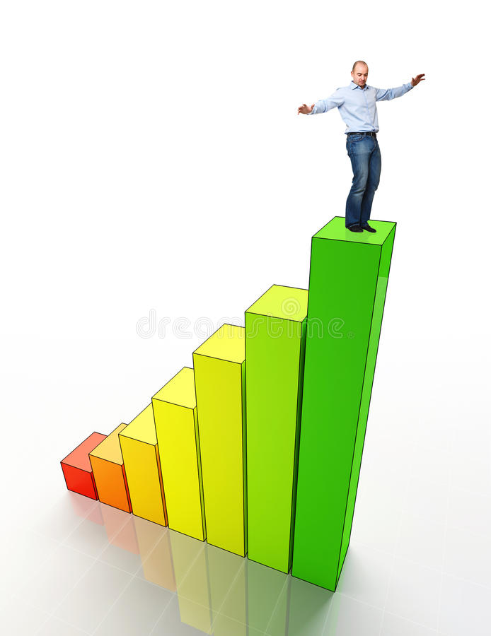 Download Man on eco stat stock image. Image of label, chart, business - 19903513