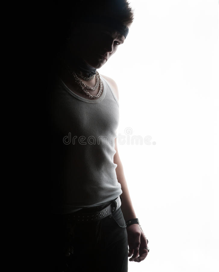 A man on the edge of black and white stock photos