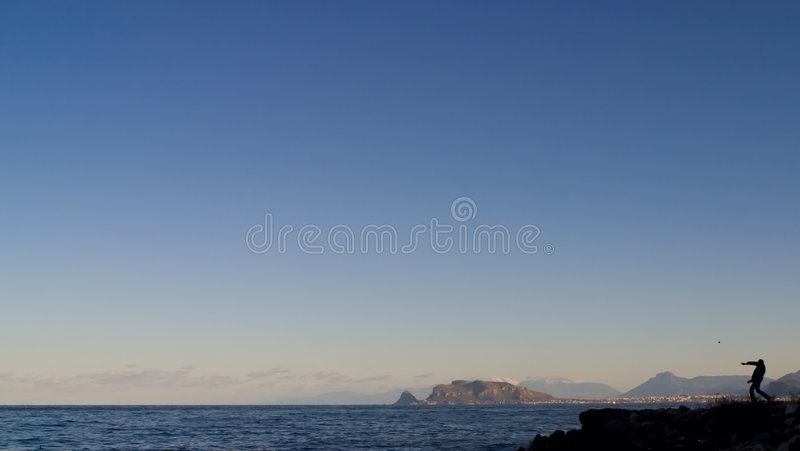 Man on the edge of the world royalty free stock images